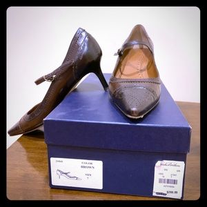 Brooks Brothers Vintage Pointed Heels with Straps